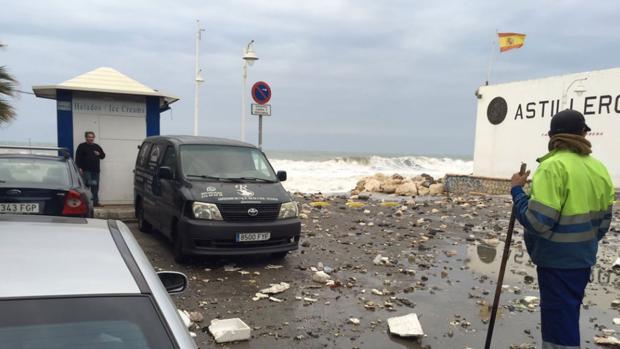 Efectos del temporal en la Costa del Sol