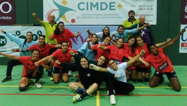 Las jugadores del Adesal Córdoba balonmano