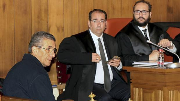 El padre Román, durante el juicio