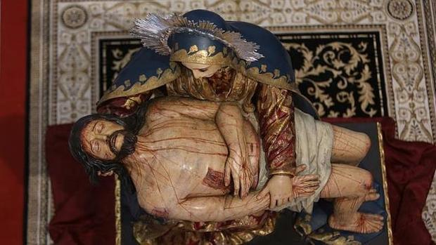 La Virgen de las Angustias del Caminito, en su capilla