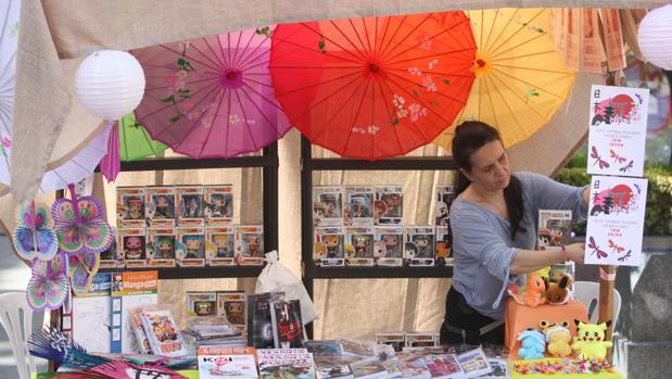 Un puesto con productos japoneses en las últimas jornadas celebradas en Córdoba