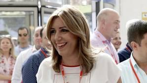 La presidenta andaluza, Susana Díaz, a su llegada al Congreso Federal