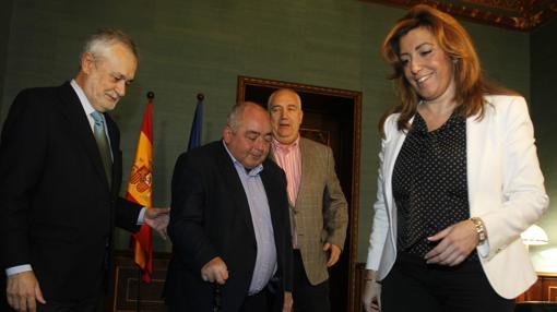 Griñán y Susana Díaz, con Pastrana y Carbonero