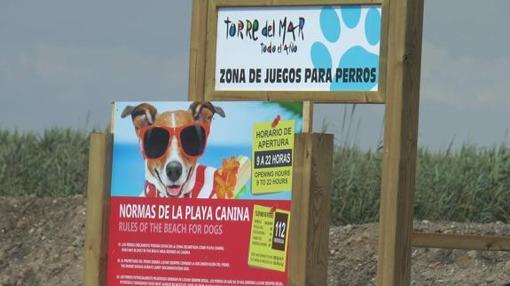 Playa canina en Torre del Mar (Málaga)