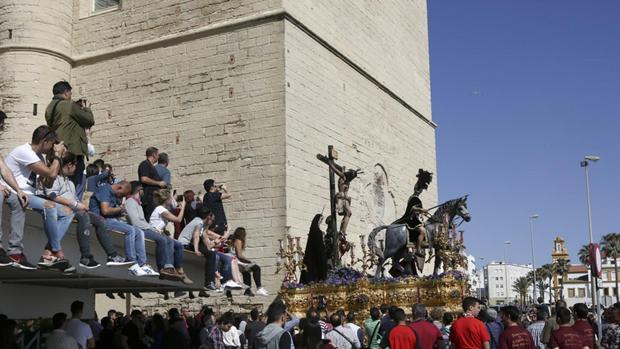 El Cristo de Las Aguas, a su salida el pasado Miércoles Santo.