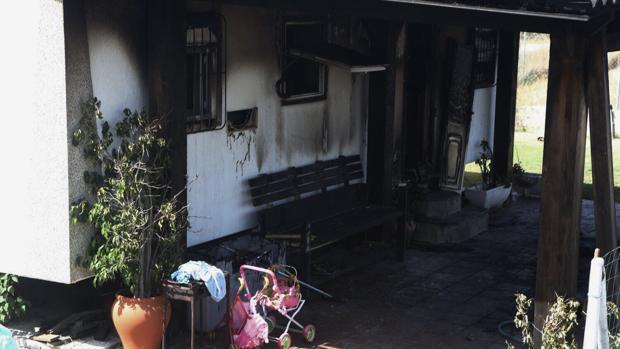 Casa donde se produjo el incendio