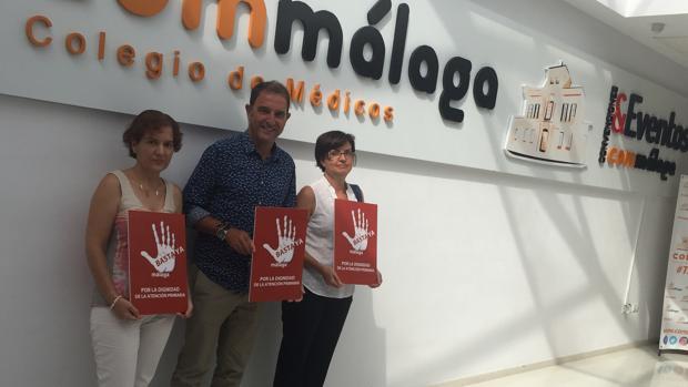 Carmen González, Carlos Bautista y Francisca Muñoz, portavoces de «Basta Ya»