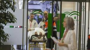 Entrada a un hospital del SAS