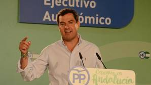 Juanma Moreno, este lunes en el comité ejecutivo del PP andaluz en Mairena del Alcor