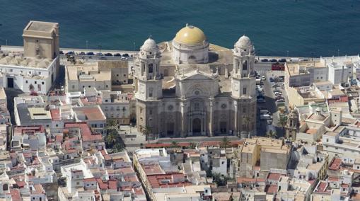 Vista aérea de la Catedral de Cádiz