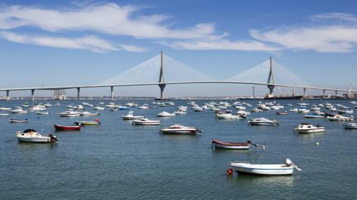 Vista del segundo puente sobre la Bahía de Cádiz