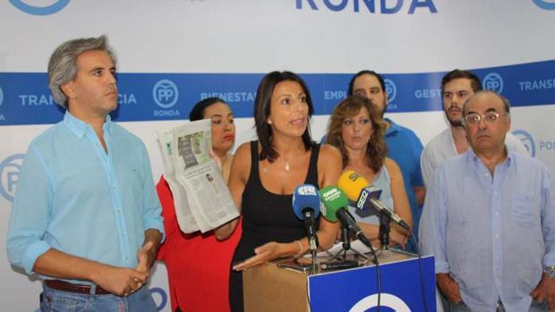 Maripaz Fernández, en rueda de prensa.