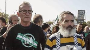 El diputado de Unidos Podemos, Diego Cañamero y el alcalde de Marinaleda, Sánchez Gordillo, históricos de la CUT