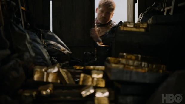 Fotograma del cuarto capítulo de la serie con Jaime Lannister en el Castillo de Almodóvar