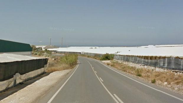 Carretera donde se ha producido la colisión