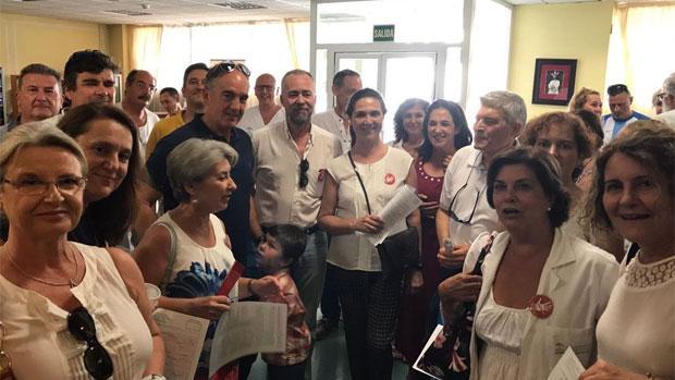 Protesta de los profesionales sanitarios de la plataforma «Basta ya Málaga»