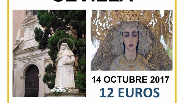 Cartel de la excursión de Descendimiento a Sevilla