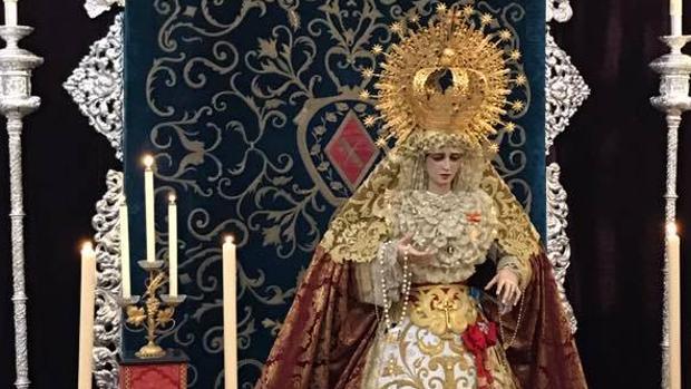 María Santísima de la Victoria también estará en el besamano magno.