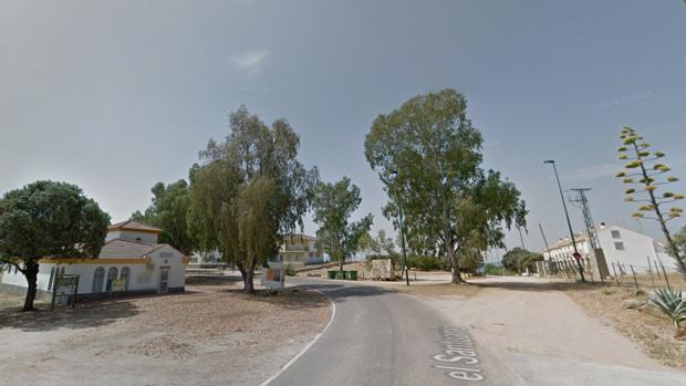Los dos coches han chocado en la carretera del Santuario de la Virgen de la Cabeza
