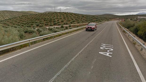 Carretera A-311 a su paso por Fuerte del Rey donde se ha producido el siniestro
