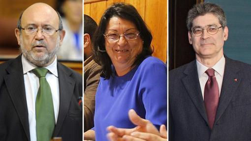 Entre los críticos de IU están Ignacio García, Juana Caballero y José Luis Pérez Tapias
