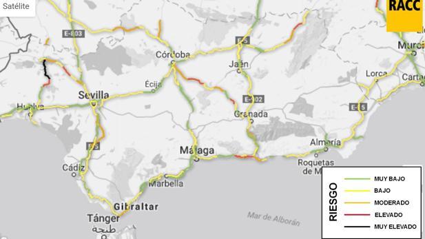 Previsión del tráfico para los próximos días en las carretereas andaluzas