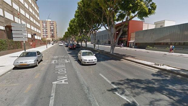 El incidente se produjo en la avenida del Mediterráneo de la capital almeriense