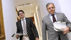 Salvador Fuentes y José María Bellido en el Ayuntamiento