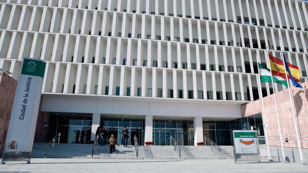 Fachada principal de la nueva sede de la Ciudad de la Justicia de Málaga