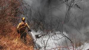 Bomberos forestales en Riotinto