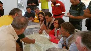 Reunión de Coordinación de los trabajos de extinción del incendio