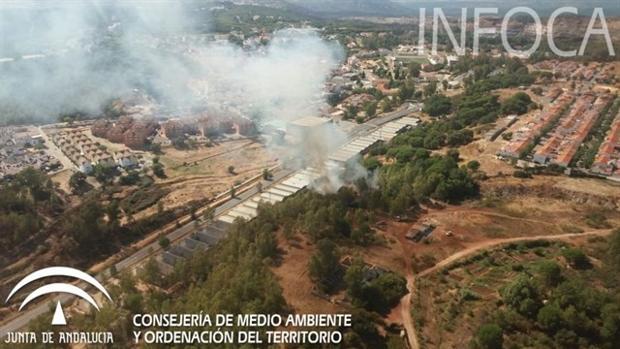 El incendio se ha producido en una zona cercana al polígono industrial Alto de la Mesa de Minas de Riotinto