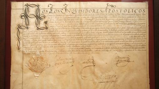 Documento de la Inquisición en la Casa de Sefarad