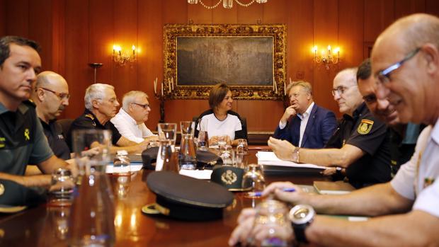 Última reunión de la Junta Local de Seguridad, presidida pror la alcaldesa, Isabel Ambrosio