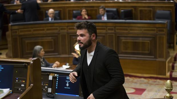 El diputado de ERC Gabriel Rufián, de origen andaluz