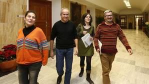 Miembros de Ganemos Córdoba, en el Ayuntamiento