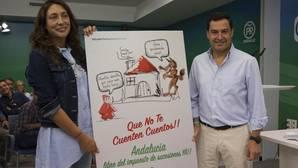 Juanma Moreno presentó la campaña de «Caperucita» sobre de sucesiones en la junta directiva regional