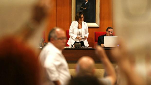 Ambrosio, esta mañana durante la celebración del Pleno