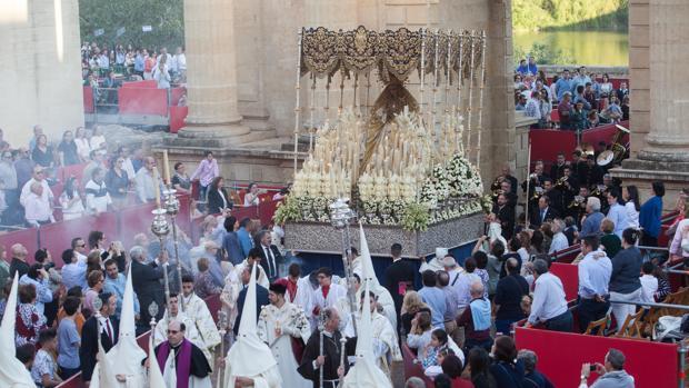 La Virgen de la Merced, en la carrera oficial el pasado Lunes Santo