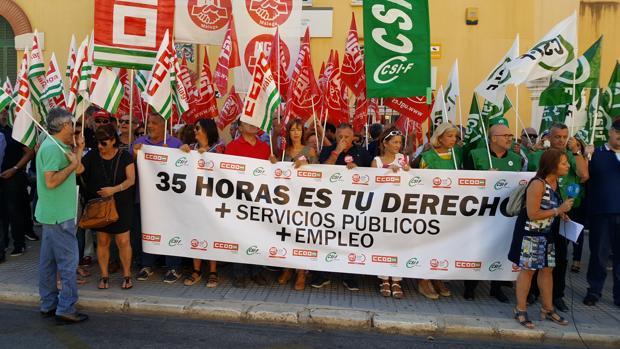 Protesta en Málaga por las 35 horas