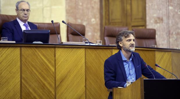 El consejero de Medio Ambiente durante una comparecencia en el Parlamento