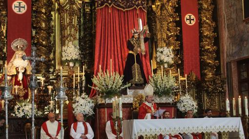 Juan José Asenjo, durante la eucaristía matinal
