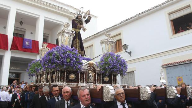 Jesús Nazareno, durante su procesión