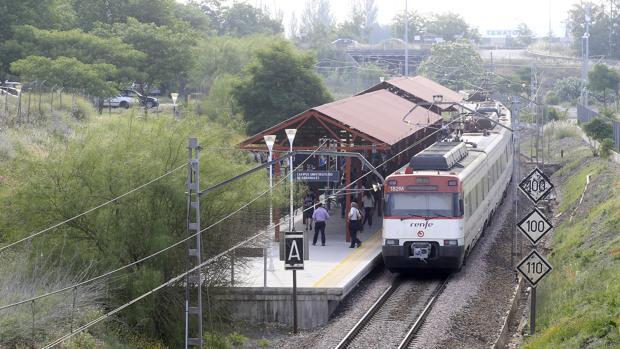 Tren que conecta Córdoba con el campus de Rabanales de la UCO