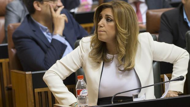 Susana Díaz, en un debate parlamentario