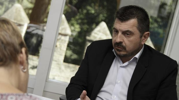 El vicesecretario del PP andaluz, Toni Martín, durante la entrevista concedida a ABC