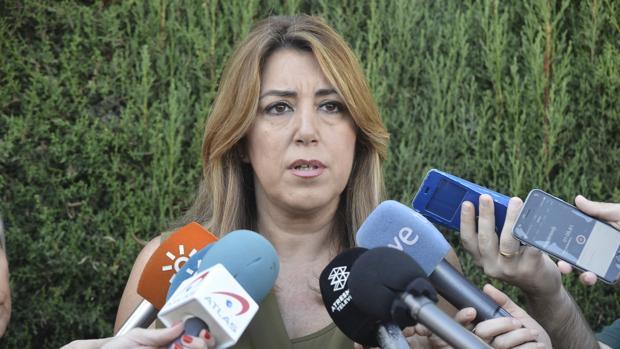La presidenta de la Junta de Andalucía, Susana Díaz, valorando el referéndum ilegal del 1-O