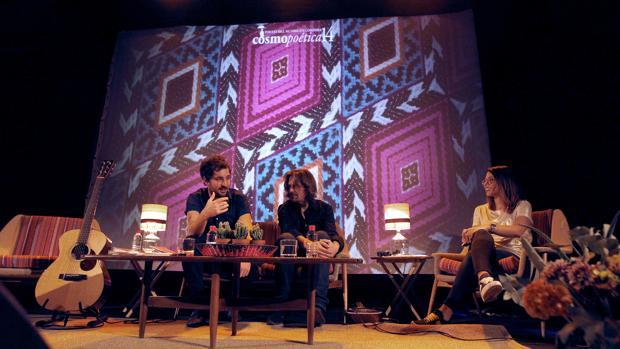 Sebas Puente, Nacho Vegas e Irene Contreras, en Cosmopoética