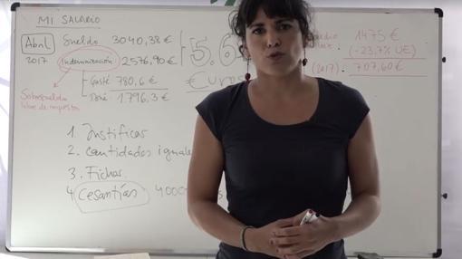 Teresa Rodríguez se atribuye un sueldo de 3.040 euros libre de impuestos y de donaciones