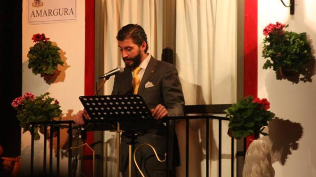 José Jesús Prados, en la presentación de un concierto